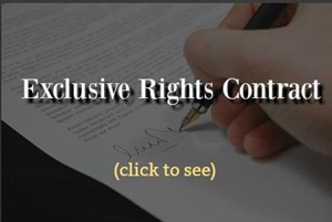 exclusive rights contract , license